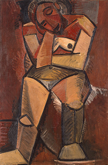 1908 femme assise2. Pablo Picasso (1881-1973) Period of creation: 1908-1918