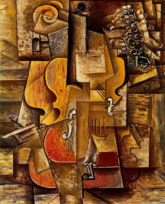 1912 Violon et raisins. Pablo Picasso (1881-1973) Period of creation: 1908-1918