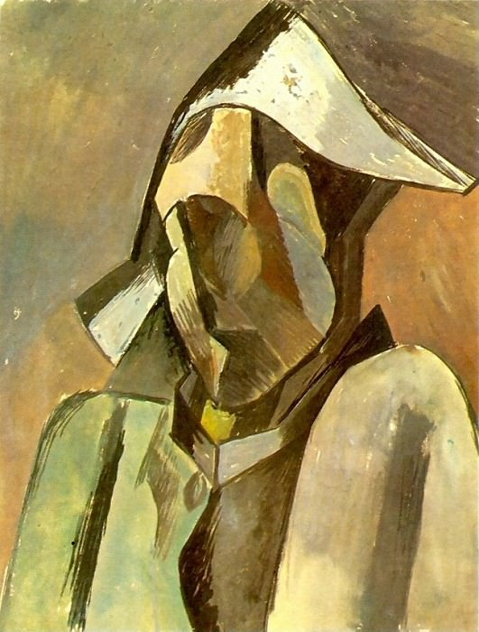 1909 Buste dArlequin. Pablo Picasso (1881-1973) Period of creation: 1908-1918