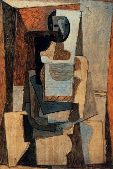 1918 Femme assise dans un fauteuil. Pablo Picasso (1881-1973) Period of creation: 1908-1918