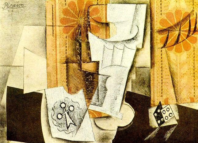 1914 Verre, as de trКfle et dВ. Pablo Picasso (1881-1973) Period of creation: 1908-1918