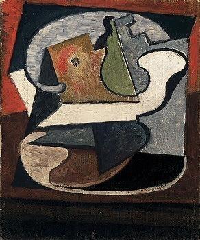 1918 Compotier avec poire et pomme. Pablo Picasso (1881-1973) Period of creation: 1908-1918