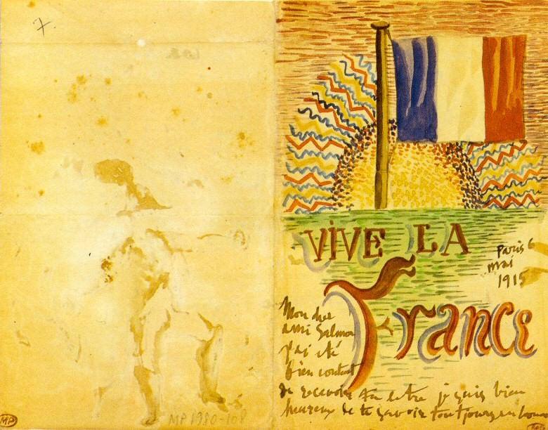 1915 Vive la France. Pablo Picasso (1881-1973) Period of creation: 1908-1918