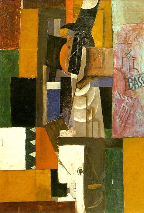 1913 Homme Е la guitare. Pablo Picasso (1881-1973) Period of creation: 1908-1918