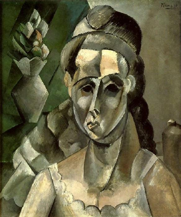 1909 Femme et un vase de fleurs. Pablo Picasso (1881-1973) Period of creation: 1908-1918