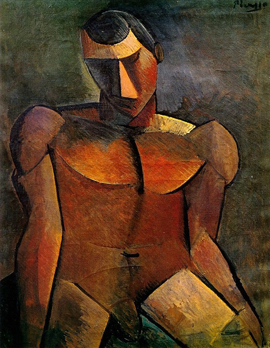1908 Homme nu assis. Pablo Picasso (1881-1973) Period of creation: 1908-1918