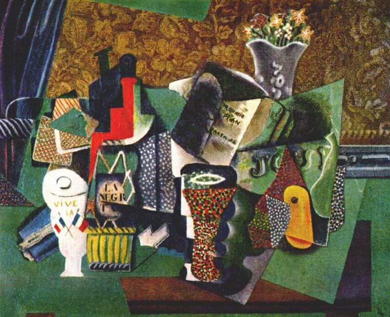 1914 Vive La France. Pablo Picasso (1881-1973) Period of creation: 1908-1918