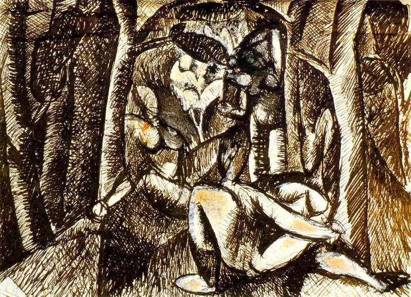 1908 Nu dans la forИt. Pablo Picasso (1881-1973) Period of creation: 1908-1918