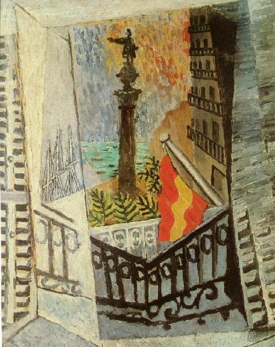 1917 Vue sur le monument de Colomb. Pablo Picasso (1881-1973) Period of creation: 1908-1918