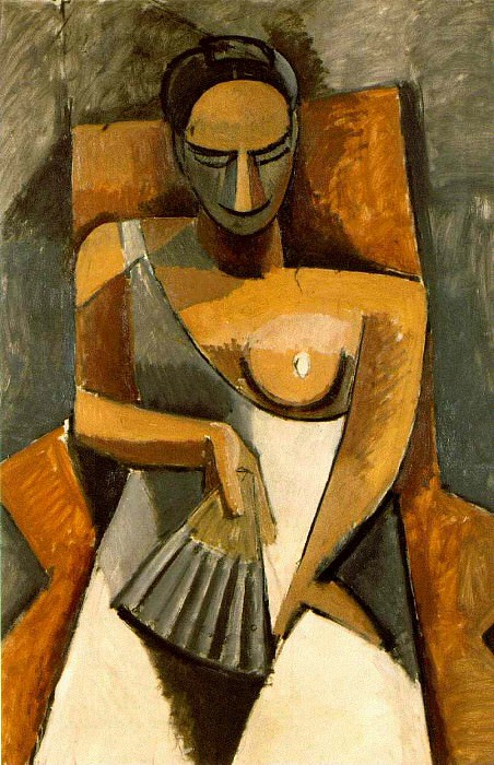 1908 Femme Е lВventail (AprКs le bal). Pablo Picasso (1881-1973) Period of creation: 1908-1918