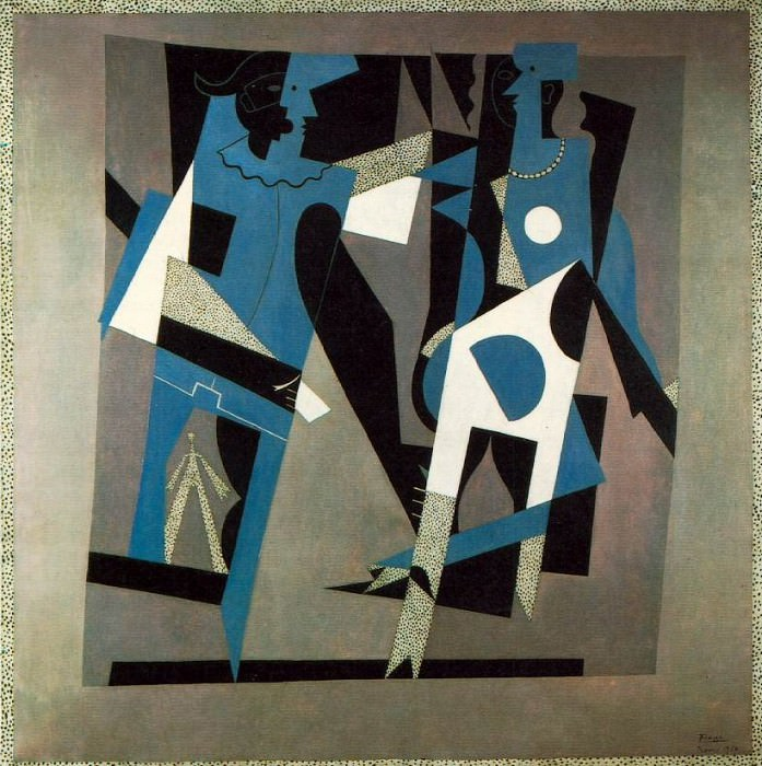 1917 Arlequin et femme au collier. Pablo Picasso (1881-1973) Period of creation: 1908-1918
