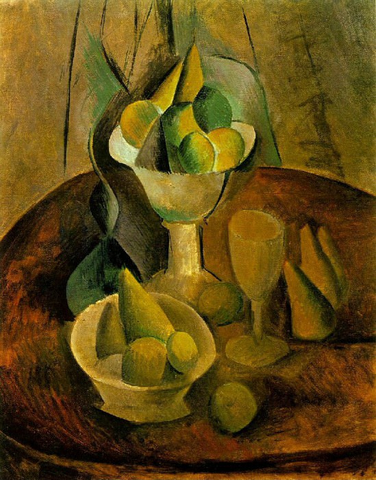 1908 Compotiers, fruits et verre. Pablo Picasso (1881-1973) Period of creation: 1908-1918