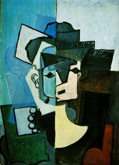 1917 Visage de femme. Pablo Picasso (1881-1973) Period of creation: 1908-1918