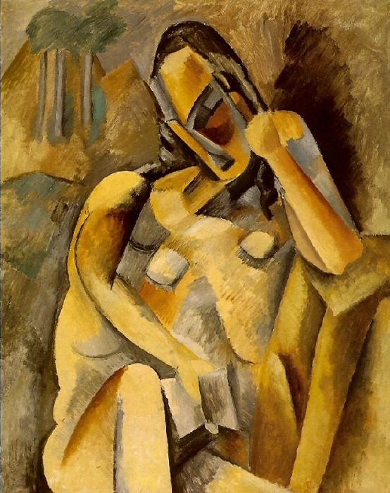 1909 Femme avec un livre. Pablo Picasso (1881-1973) Period of creation: 1908-1918