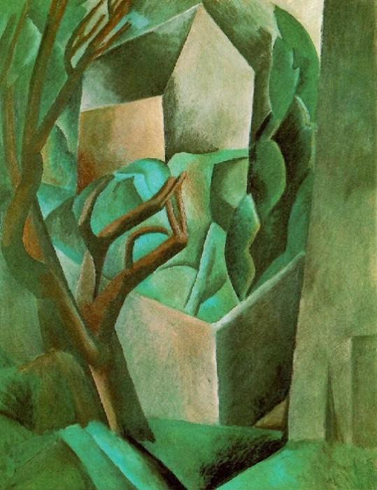 1908 Maisonette dans un jardin. Пабло Пикассо (1881-1973) Период: 1908-1918