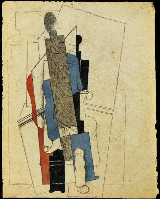 1916 Homme assis dans un fauteuil. Pablo Picasso (1881-1973) Period of creation: 1908-1918