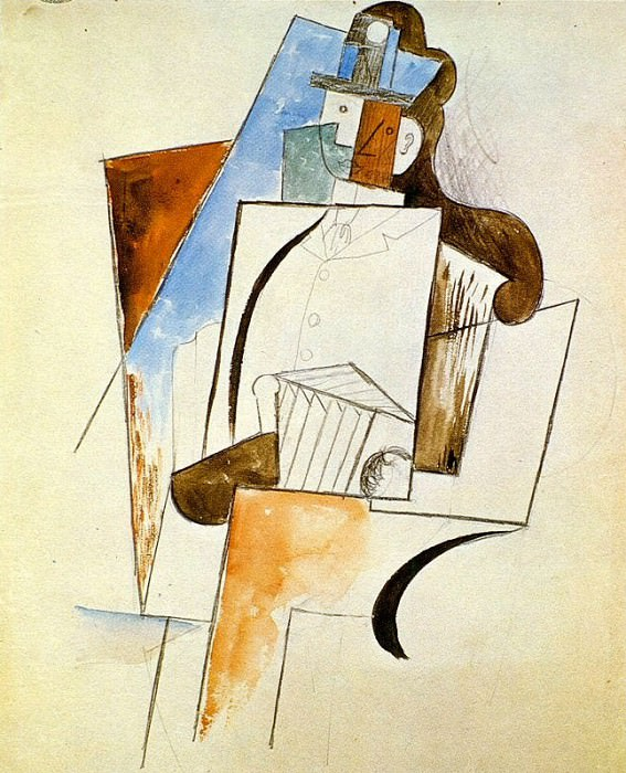 1916 AccordВoniste. Pablo Picasso (1881-1973) Period of creation: 1908-1918 (Homme Е chapeau)