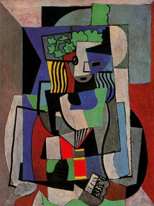 1917 Femme devant un livre. Pablo Picasso (1881-1973) Period of creation: 1908-1918 (LВcoliКre)
