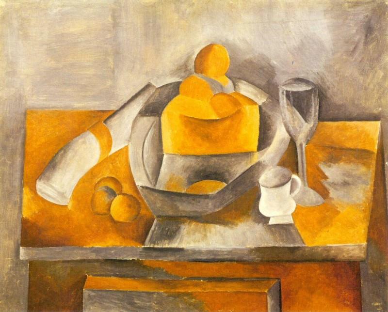 1909 Nature morte Е la brioche. Pablo Picasso (1881-1973) Period of creation: 1908-1918