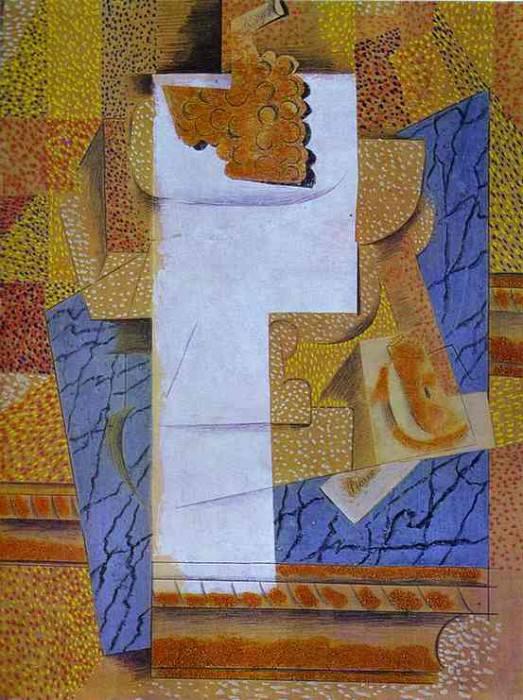 1914 vase de fruits et grappes. Pablo Picasso (1881-1973) Period of creation: 1908-1918