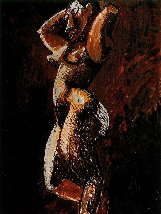 1908 Femme nue de profil. Pablo Picasso (1881-1973) Period of creation: 1908-1918