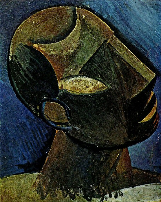 1908 TИte dhomme. Pablo Picasso (1881-1973) Period of creation: 1908-1918