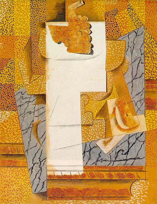 1914 Compotier, grappe de raisin, poire coupВe. Pablo Picasso (1881-1973) Period of creation: 1908-1918