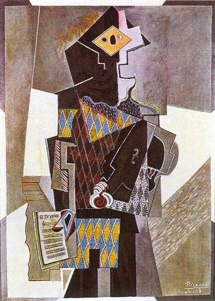 1918 Arlequin Е la guitare (Si tu veux). Pablo Picasso (1881-1973) Period of creation: 1908-1918