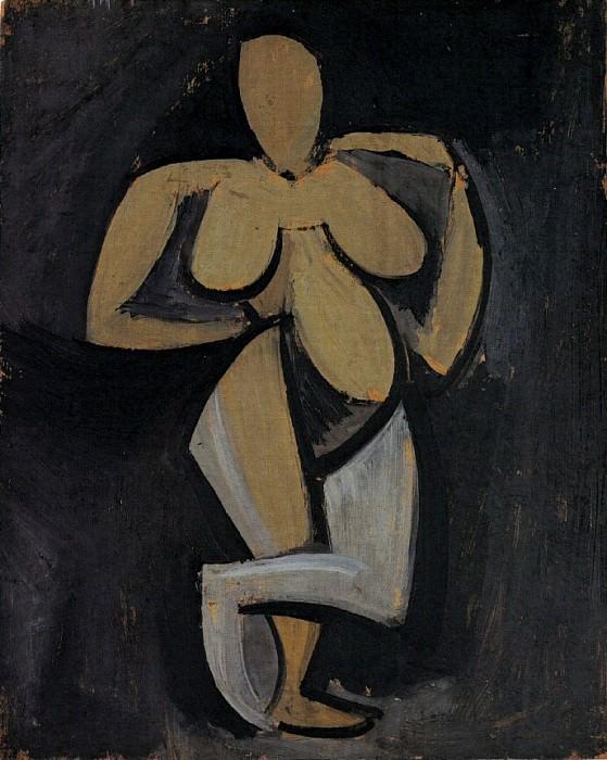 1908 Femme debout se tenant la hanche. Pablo Picasso (1881-1973) Period of creation: 1908-1918 (Femme nue debout tournВe vers la droite)