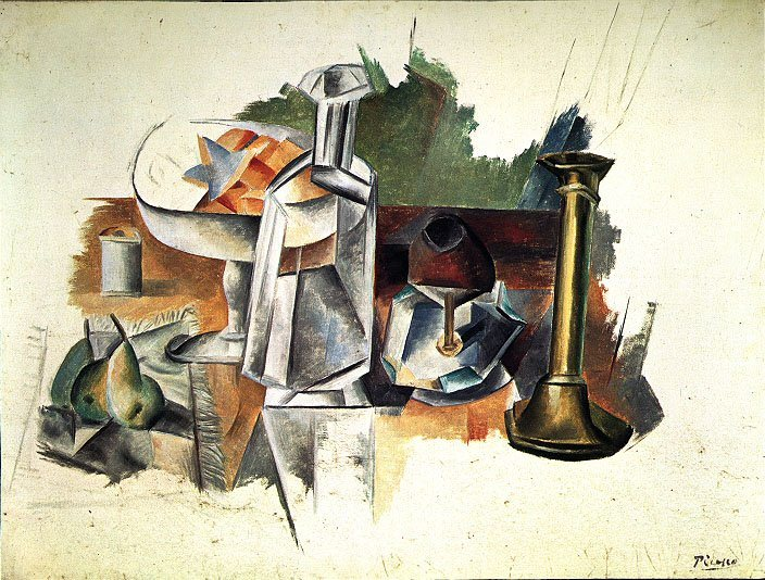 1909 Carafe et chandelier. Pablo Picasso (1881-1973) Period of creation: 1908-1918