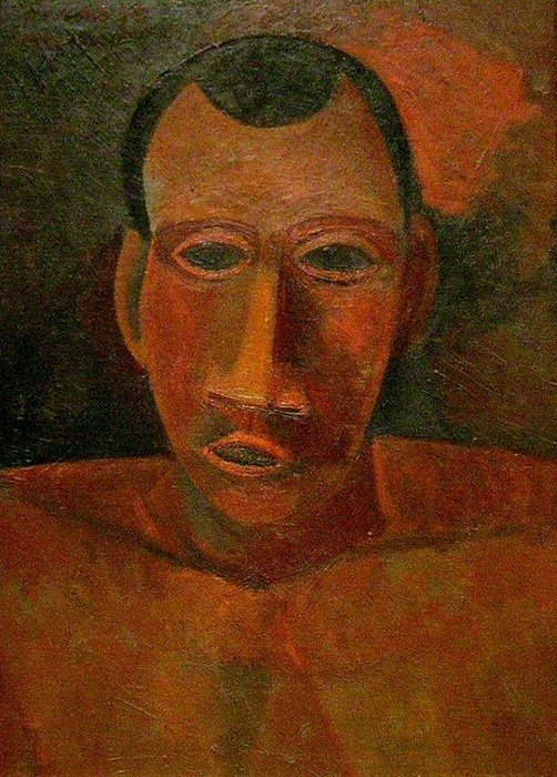 1908 Buste dТhomme. Pablo Picasso (1881-1973) Period of creation: 1908-1918