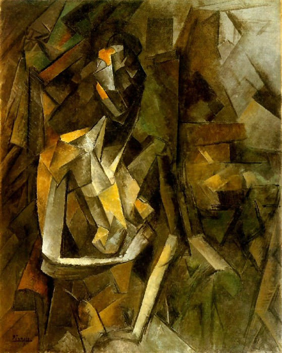 1909 Femme nue assise1. Pablo Picasso (1881-1973) Period of creation: 1908-1918
