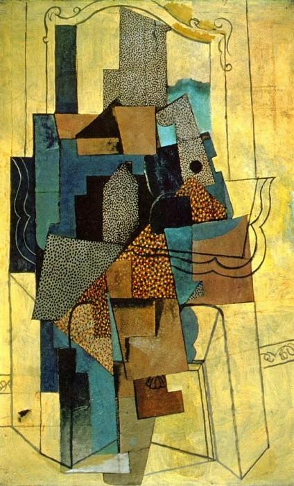 1916 Homme Е la cheminВe. Pablo Picasso (1881-1973) Period of creation: 1908-1918