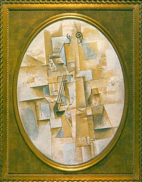 1912 Violon pyramidal. Pablo Picasso (1881-1973) Period of creation: 1908-1918
