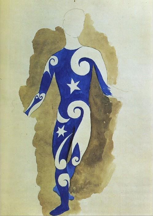 1917 Parade - projet pour un costume dacrobate. Pablo Picasso (1881-1973) Period of creation: 1908-1918