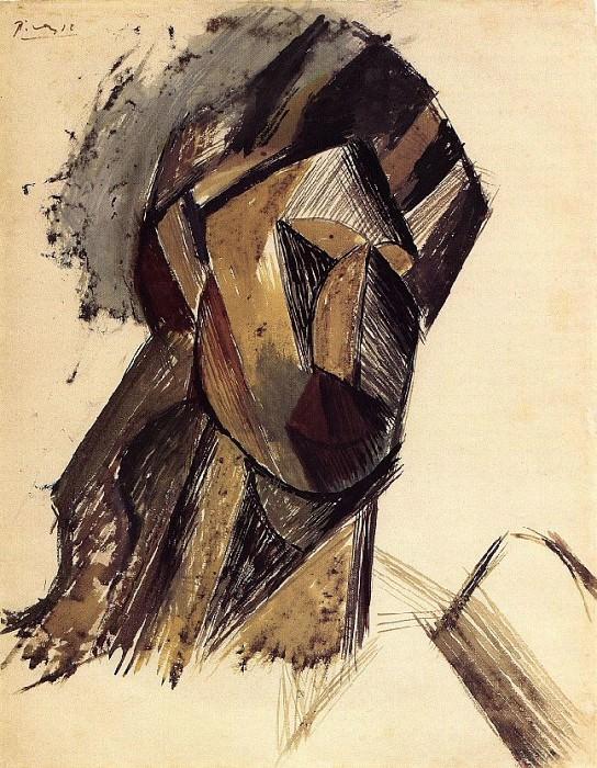 1909 TИte de femme (Fernande Olivier). Pablo Picasso (1881-1973) Period of creation: 1908-1918