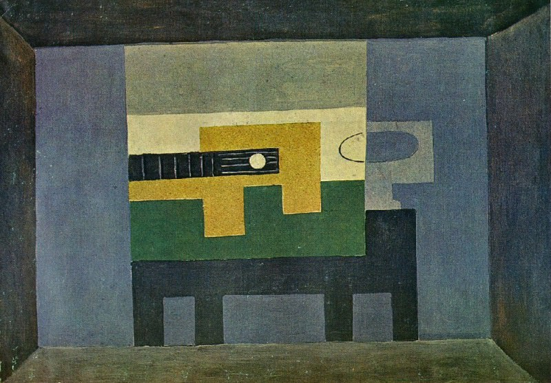 1918 Guitare et cruche sur une table. Pablo Picasso (1881-1973) Period of creation: 1908-1918