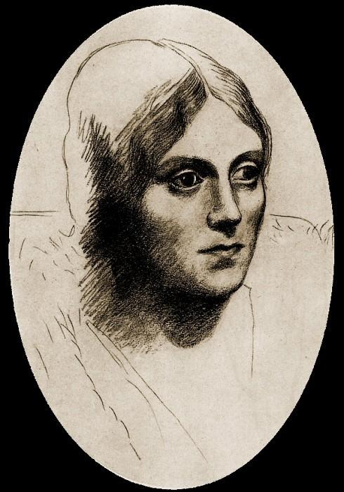 1917 Portrait dOlga Kokhlova. Pablo Picasso (1881-1973) Period of creation: 1908-1918