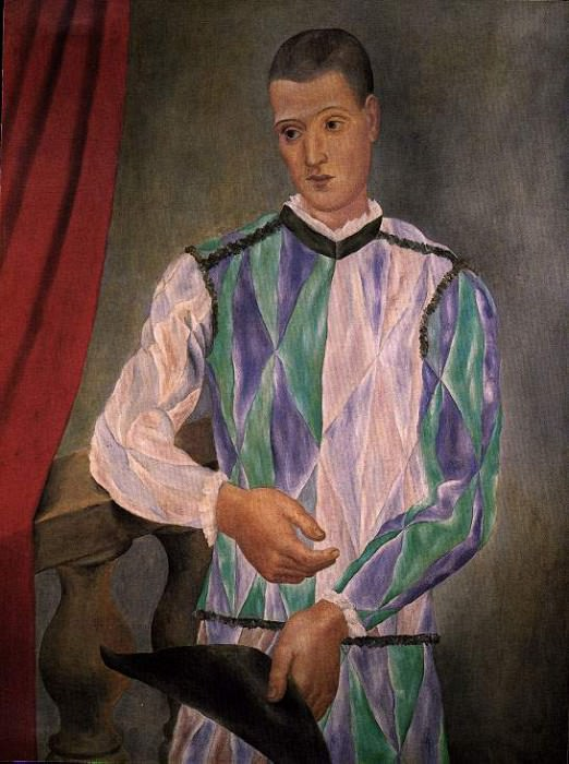 1917 Arlequin1. JPG. Pablo Picasso (1881-1973) Period of creation: 1908-1918