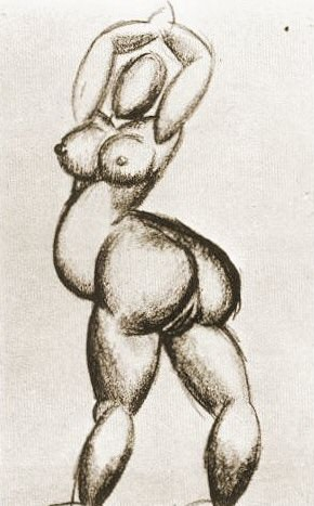 1908 Nu Callypige. Pablo Picasso (1881-1973) Period of creation: 1908-1918