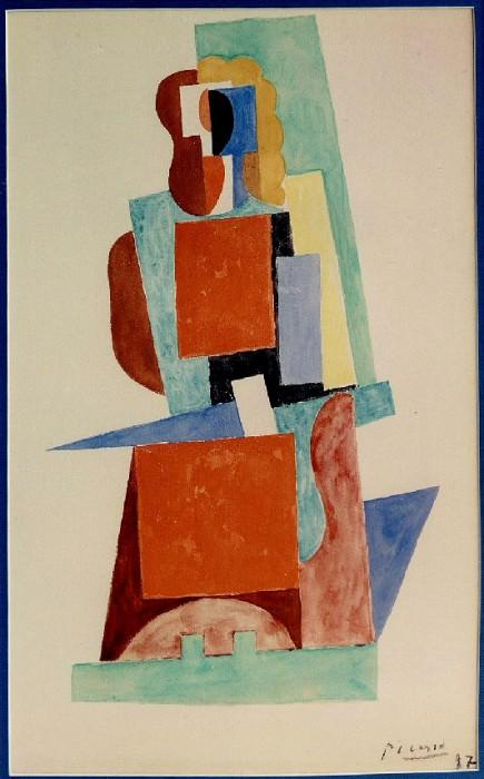 1917 Femme assise dans un fauteuil. Pablo Picasso (1881-1973) Period of creation: 1908-1918
