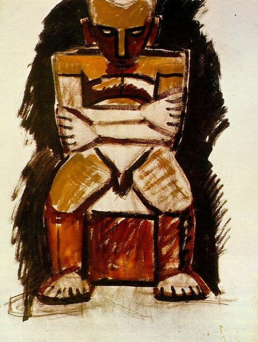 1908 Homme assis. Pablo Picasso (1881-1973) Period of creation: 1908-1918