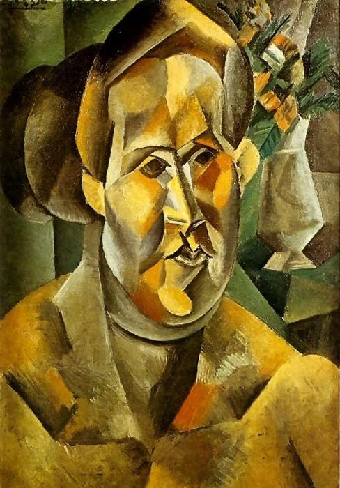 1909 Buste de femme au bouquet (Fernande). Pablo Picasso (1881-1973) Period of creation: 1908-1918