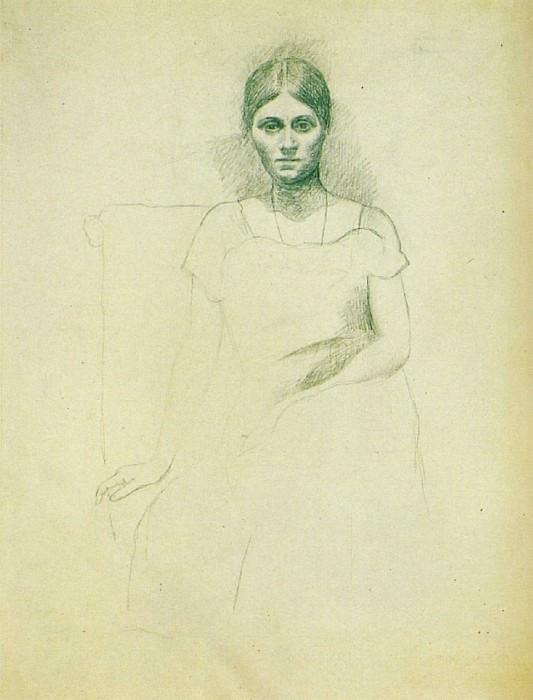 1917 Portrait dOlga Kokhlova1. Pablo Picasso (1881-1973) Period of creation: 1908-1918