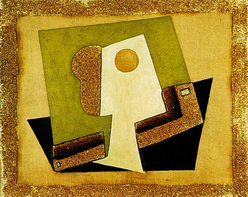1917 Composition au verre. Pablo Picasso (1881-1973) Period of creation: 1908-1918 (Verre et pipe)