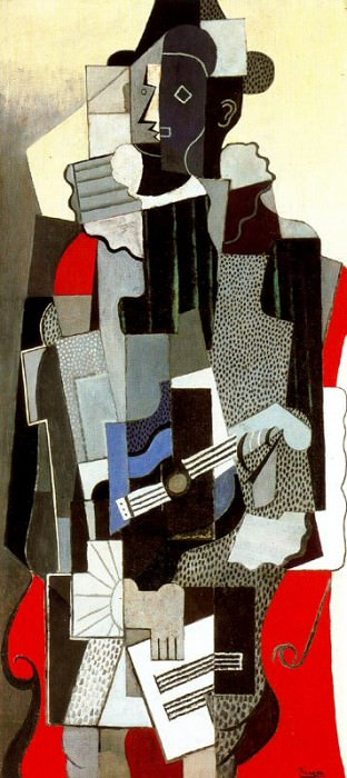 1918 Arlequin. Pablo Picasso (1881-1973) Period of creation: 1908-1918