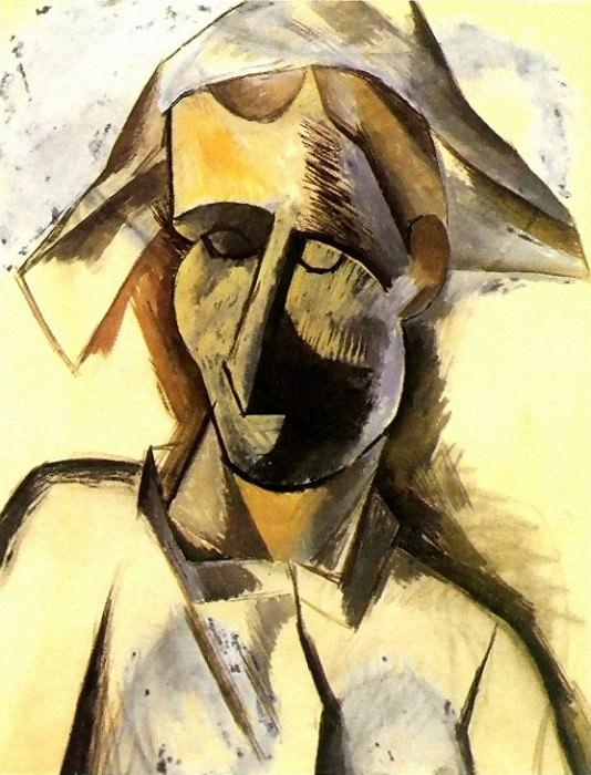1909 Buste dArlequin2. Пабло Пикассо (1881-1973) Период: 1908-1918