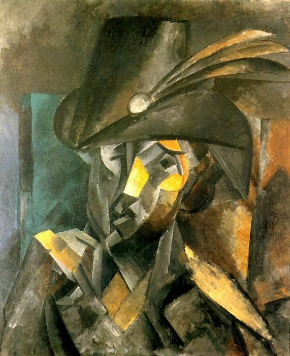 1909 La dame au chapeau noir. Pablo Picasso (1881-1973) Period of creation: 1908-1918