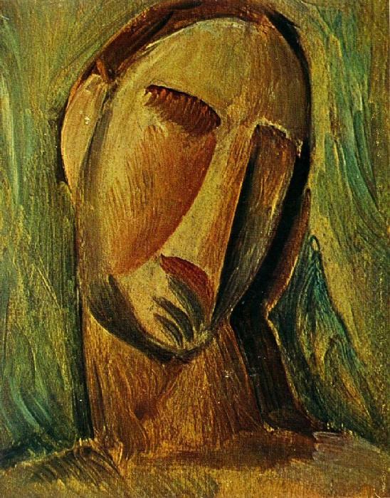 1908 TИte de femme. Pablo Picasso (1881-1973) Period of creation: 1908-1918