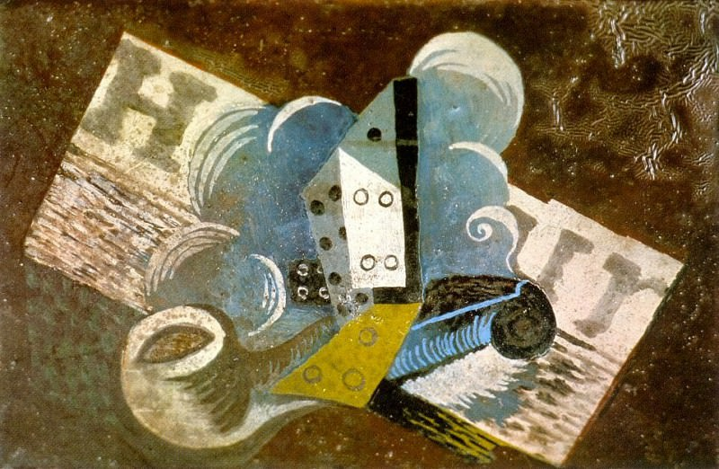 1915 Pipe, dВ, journal. Pablo Picasso (1881-1973) Period of creation: 1908-1918